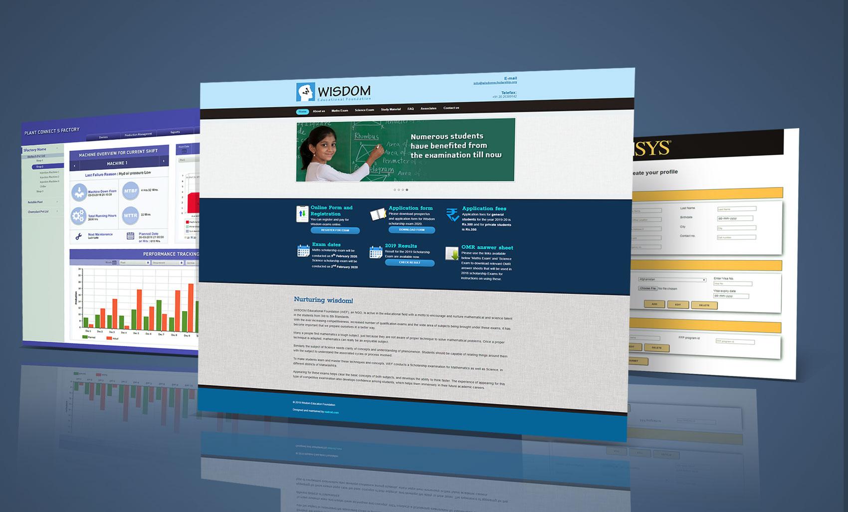 Website, UI design